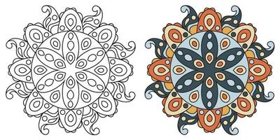 abgerundete dekorative dekorative Färbung Mandala Malbuch Seite
