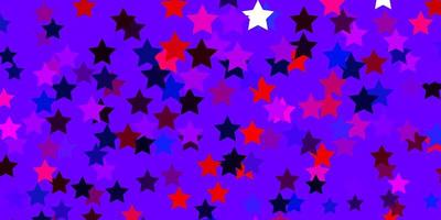 ljusblå, röd layout med ljusa stjärnor.