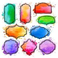 akvarell ram samling vektor