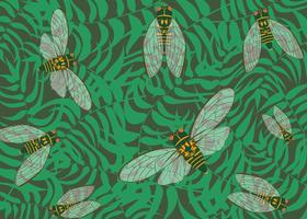 cicadas insektbakgrund vektor
