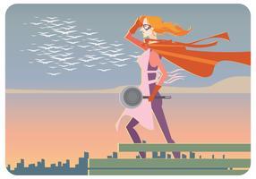 Super-Kokare Kvinna Vektor
