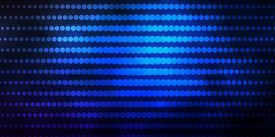mörkblå bakgrund med cirklar.
