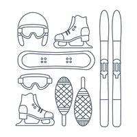 Vektor-Winter-Sport-Ikonen-Set vektor