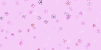 hellviolettes, rosa natürliches Layout mit Blumen.