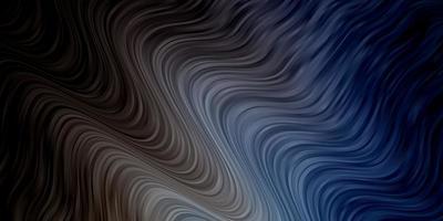 ljusblå layout med kurvor. vektor