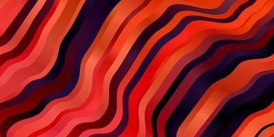 röd bakgrund med böjda linjer. vektor