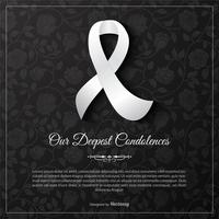 Vår djupaste Condolences Vector Card Template