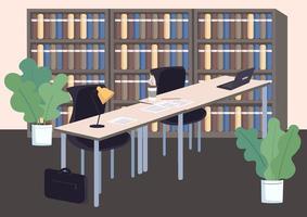 högskolebibliotekets bokhyllor vektor
