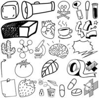 uppsättning objekt och symbol handritad klotter