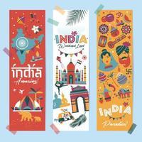Indien Set Architektur vektor
