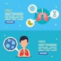 Coronavirus Medical Banner Set vektor