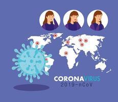 Coronavirus Symptome medizinisches Banner vektor