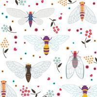 Set av färgrik Cicada vektor