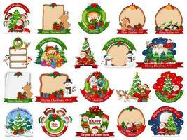 uppsättning tomma julkortmallar vektor