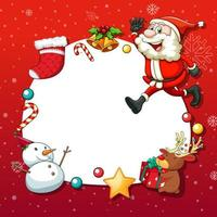 Weihnachtsrahmen mit Weihnachtsobjekten