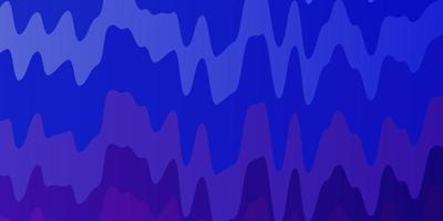 blauer, lila Hintergrund mit Wellenlinien.