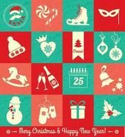 jul och nyår bakgrund. vektor