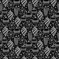 jul sömlösa mönster med jul element. vektor