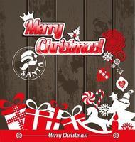 Weihnachten und Neujahr Hintergrund. vektor