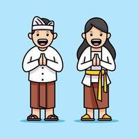 serietecknad karaktär av bali barn