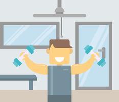 Ikonenhafte stilvolle Fitness-Trainer-Vektoren vektor