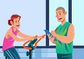 Snygg Fitness Trainer Training vektor