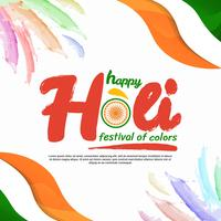 Glückliches Holi Festival der Farbvektor-Illustration