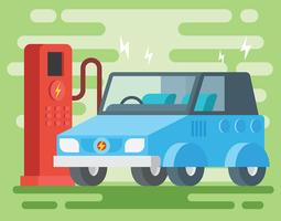 Elektroauto-Illustration