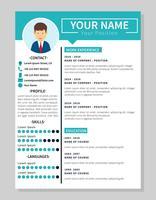 Minimalis Corporate Resume-Vorlagenabbildung vektor