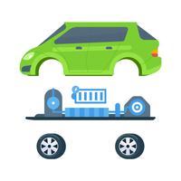 Elektriska bilvektorer vektor