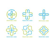 Ikonenhafte heilende Logos-Vektoren vektor