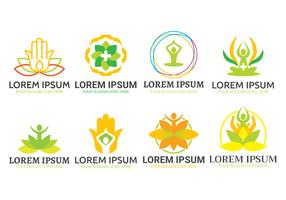 Heilender Logovektorsatz