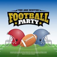 Fotbollsfesten Vektorillustration affischdesign