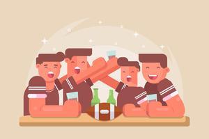 Fußball-Party-Vektoren