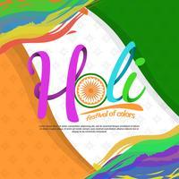 Holi Festival der Farbtypographie-Vektor-Illustration