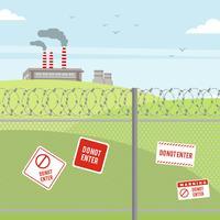 Razor wire gränsskydd illustration