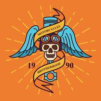 Vintage Motorcykel Emblem