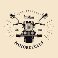 Weinlese-Motorrad-Emblem vektor