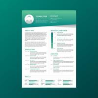 Unternehmenslebenslauf-Schablonen-Vektor vektor