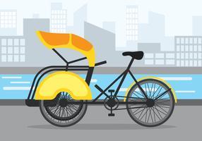 trishaw vektor illustration