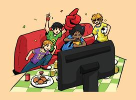 Fußball-Party-Vektor-Illustration vektor