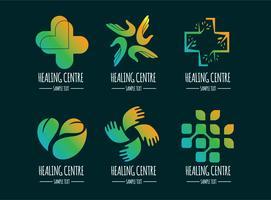 läkning logos insamlingsvektor
