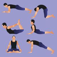 Yoga rörelse vektor