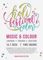 Holi Festival der Farben Flyer vektor