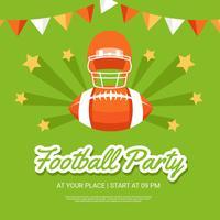 Fußball-Party-Plakat-Schablonen-Vektor vektor