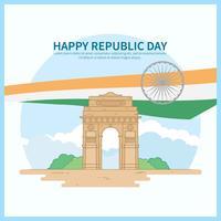 Indien Republik Dag Illustration
