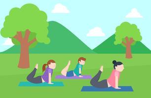Enastående uppsättning av Yoga Instructor Vectors