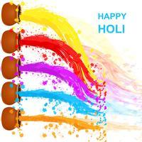 Glücklicher Holi-Hintergrund vektor