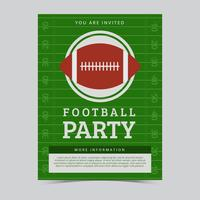 Fri American Football Party Flyer Vector