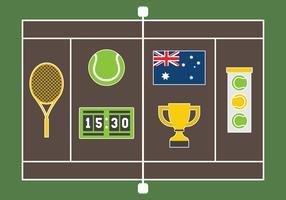 Kostenlose australische Tennis-Vektor-Illustration vektor